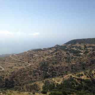 дорога к пляжу Элафонисси