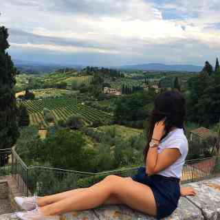 Firenze, Florence valley view, Tuscany, San Gimignano Castle