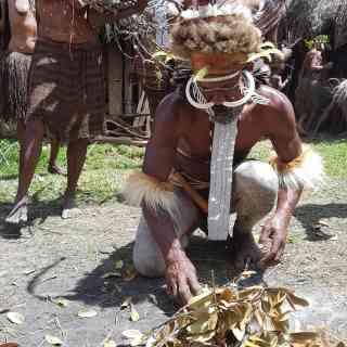Вождь племени Дали Папуа Новая Гвинея