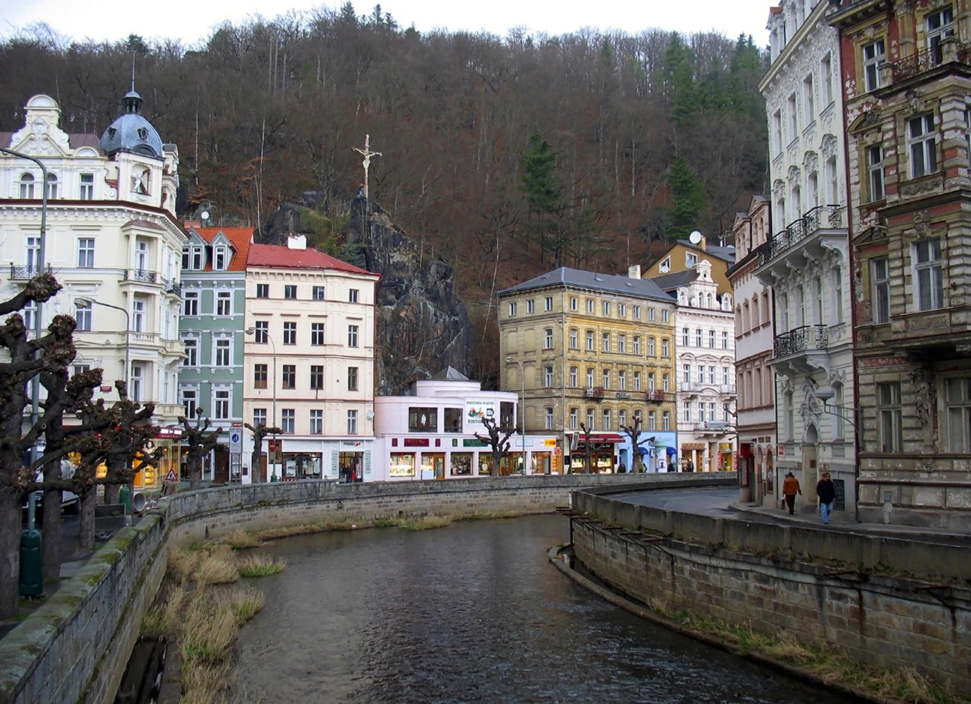 The Czech resort Karlovy Vary