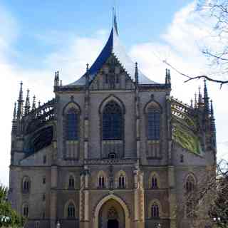 Cathedral of St. Barbara in the Czech town of Kutna Hora