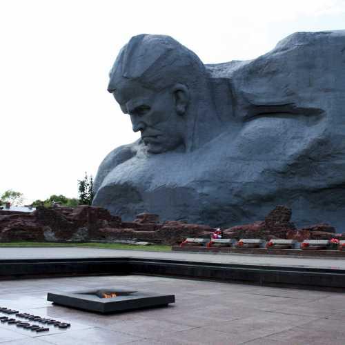 Eternal flame of World War II Memorial complex Brest Hero Fortress.