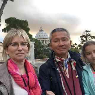 Ватикан и мои любимые девочки :)