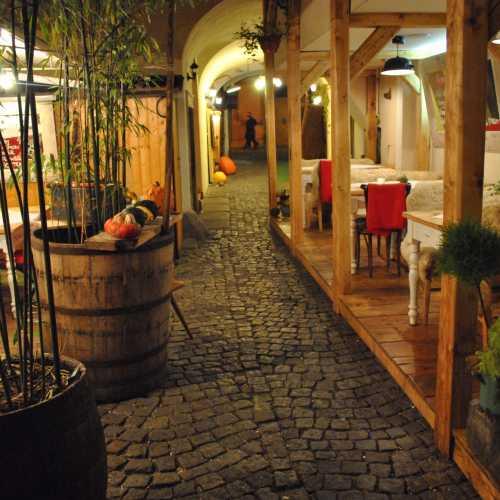 Кафешка где-то в Пражском граде.