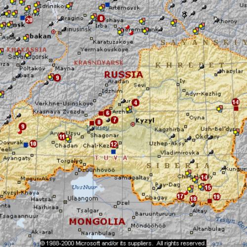 карта месторасположенияТувы