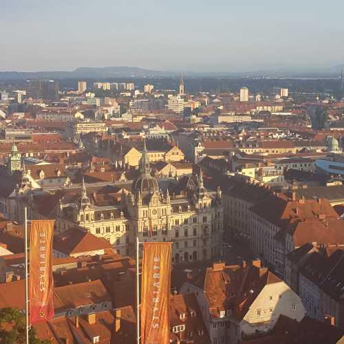 Вид на город с обзорной площадки Шлоссберг