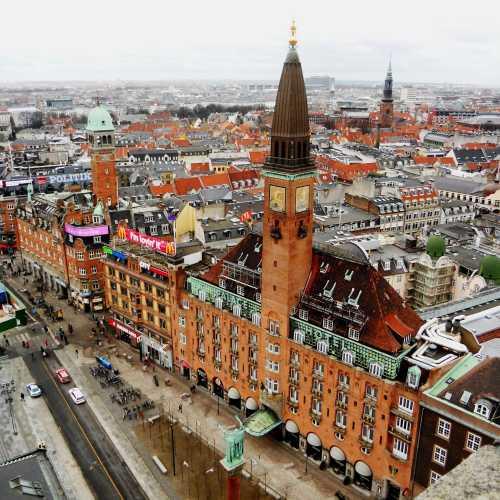 Копенгаген. Вид с башни ратуши