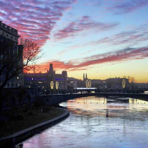Зимний закат в Стокгольме