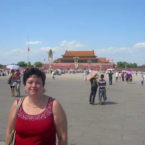 Пекин, на Тянь- Аньменьской площади
