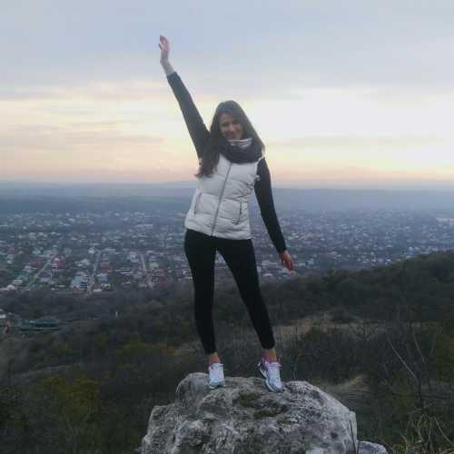 гора Машук. Высота 993,7 м. название горы связывают с горской легендой о прекрасной девушке Машуко