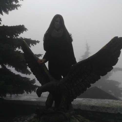 Скульптура орла, терзающего змею на вершине Машука :)