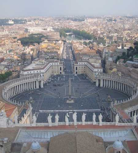 вид на Рим с собора Св.Петра