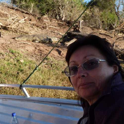 2010г, нац парк.Крокодилы