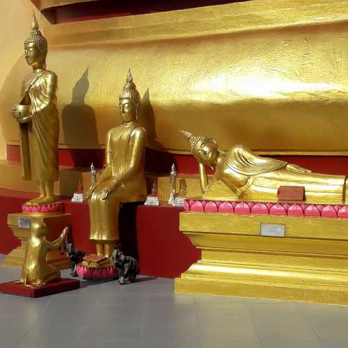 Statue of Golden Buddha — you can go there with a tour or by motorbike yorself.