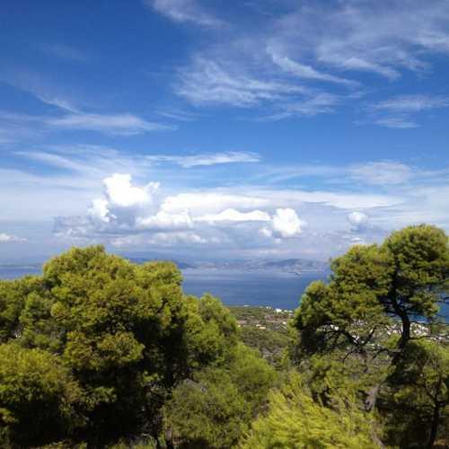 вид на Афины, остров Эгина, Храм Афины Афайи
