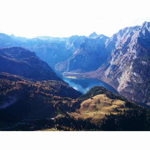 Вид на оз.Кенигсзе с горы Йеннер, Германия