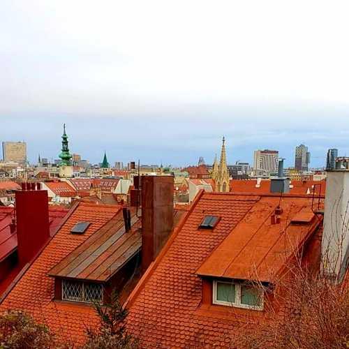 Old Town Bratislava.<br/> View from Bratislava Castle.