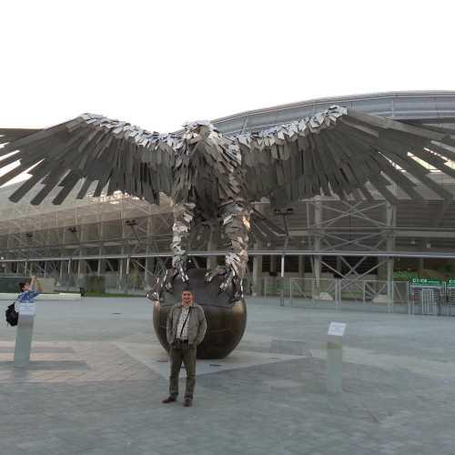 Будапешт. Я у стадиона Ференцвароша. (18.09.2014)