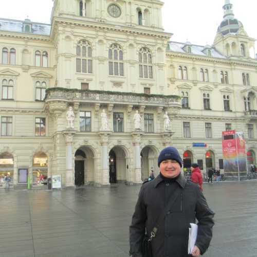 Грац. Я на площади Хауптплатц. (05.01.2017)
