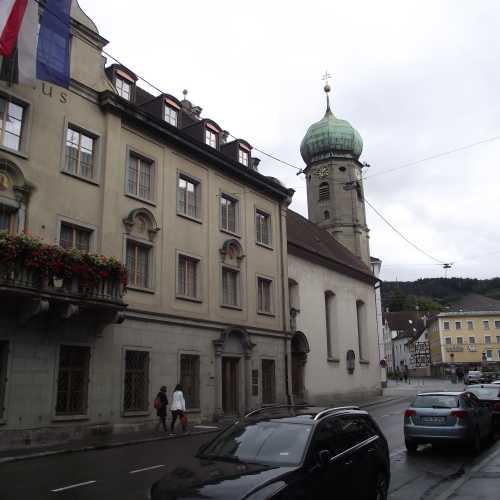 Брегенц (Австрия). Здание Ратуши и Озёрная капелла. (19.09.2017)