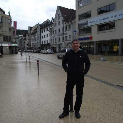 Брегенц (Австрия). Я на площади Корнмарктплатц. (19.09.2017)