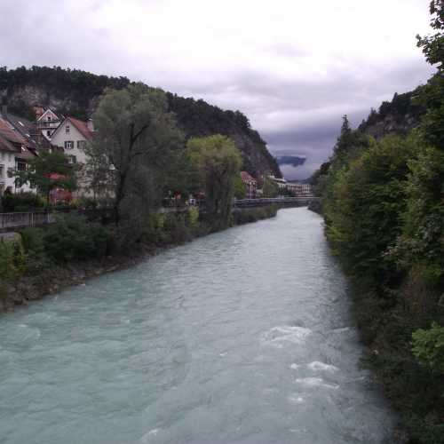 Фельдкирх (Австрия). Вид на реку Илль. (19.09.2017)