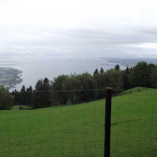 Брегенц (Австрия). Вид на Боденское озеро с горы Пфендер. (19.09.2017)