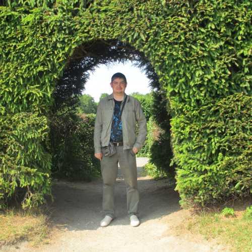 Стокгольм. Я в парке около дворца Дроттнингхольм. (12.07.2013)
