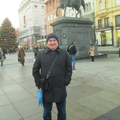Загреб. Я на площади бана Йосипа Елачича. (03.01.2017)