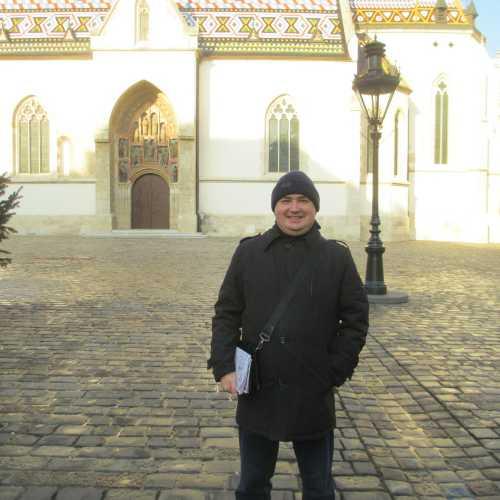 Загреб. Я на площади Святого Марка. (03.01.2017)
