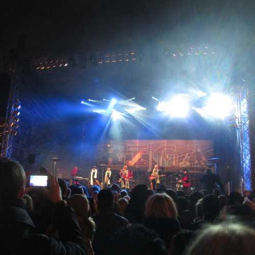 Рига. Новогодний концерт на набережной Даугавы (31.12.2014)