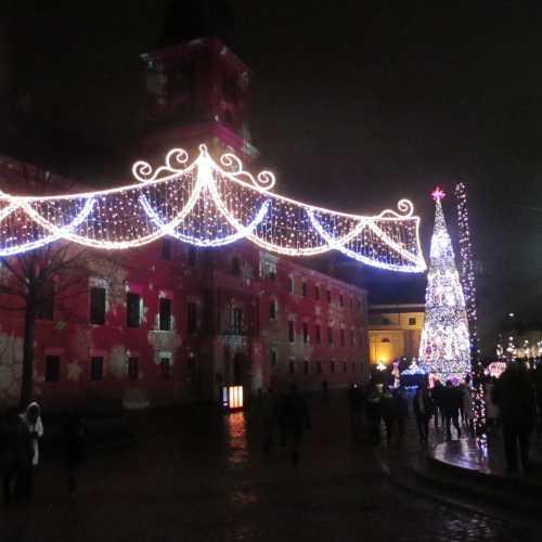 Варшава. На Замковой площади вечером (03.01.2015)