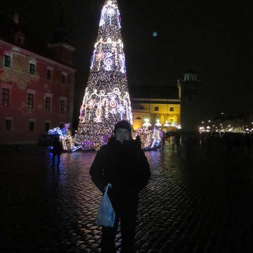 Варшава. Я на Замковой площади (03.01.2015)