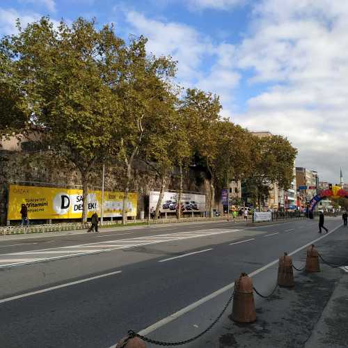 Стамбул. Район Бешикташ. Трасса Стамбульского марафона. (08.11.2020)