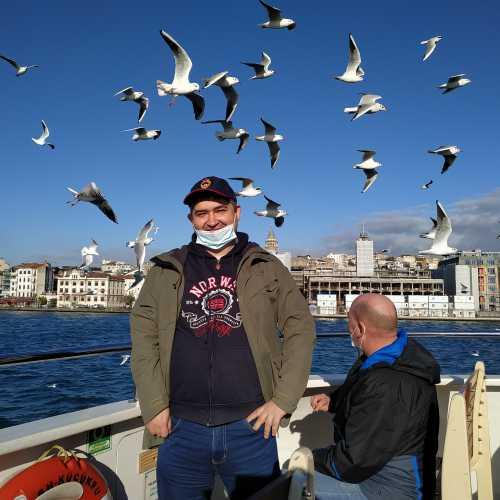 Стамбул. Я на пароме Эминеню-Ускюдар. (08.11.2020)