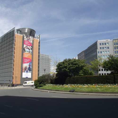 Брюссель. Площадь Шумана. (30.04.2017)