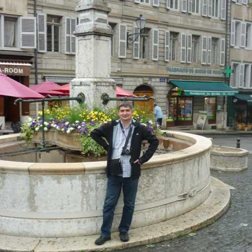 Женева. Я на площади Бург-де-Фур. (16.06.2016)