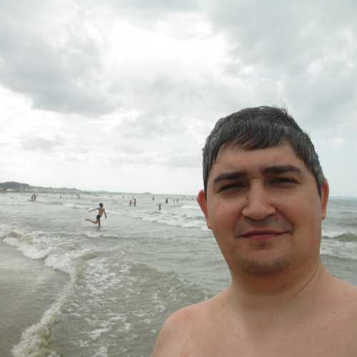 Я на пляже Дурреса. (06.09.2015)