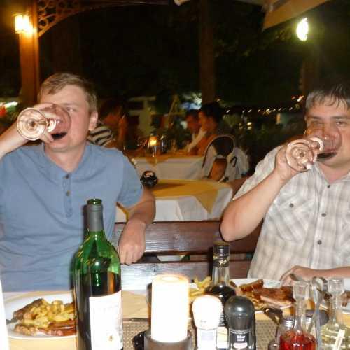 За ужином в Будве. (09.09.2015)