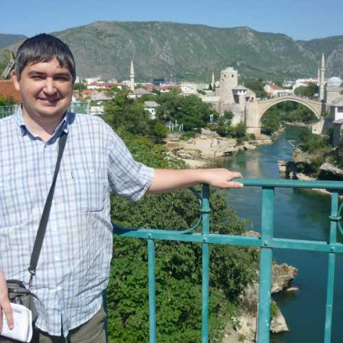 Мостар. Я на Лучковом мосту. (08.09.2015)