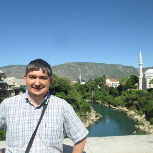 Мостар. Я на Старом мосту. (08.09.2015)