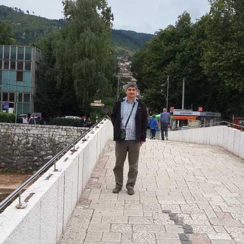 Сараево. Я на Латинском мосту. (07.09.2015)