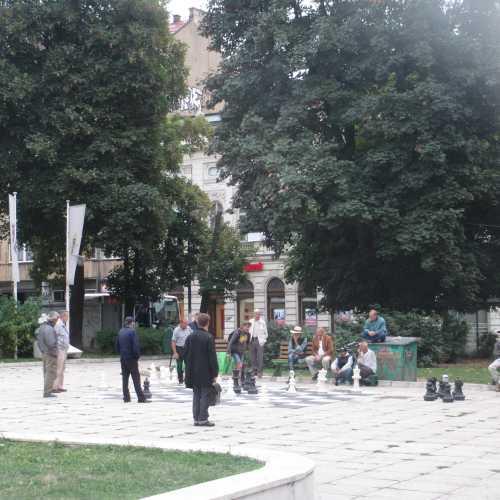 Сараево. Игра в шахматы крупными фигурами. (07.09.2015)