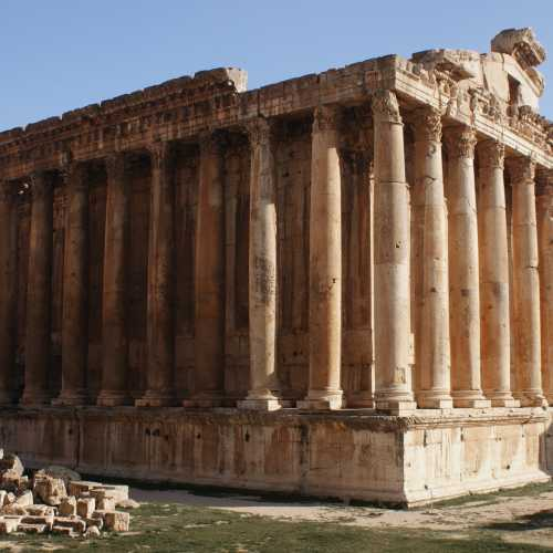 Ruins Of Dionysus temple. Baalbek.<br/> Руины храма Бахуса (Диониса) Баальбек