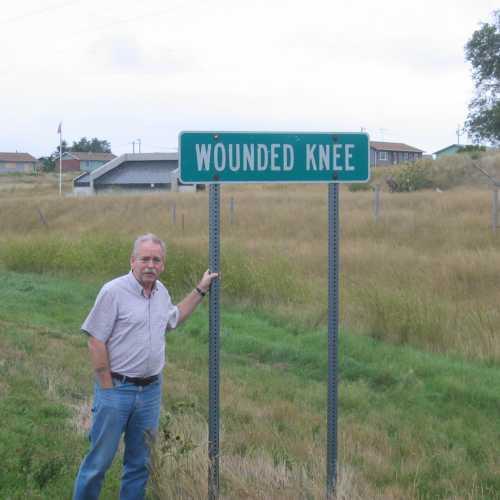 En obetydlig skylt vittnade om att jag kommit till Wounded Knee