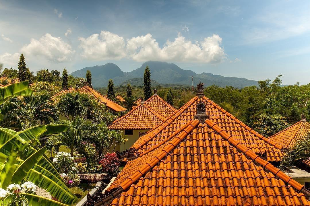 Макушки гор над деревней… #бали bali bali