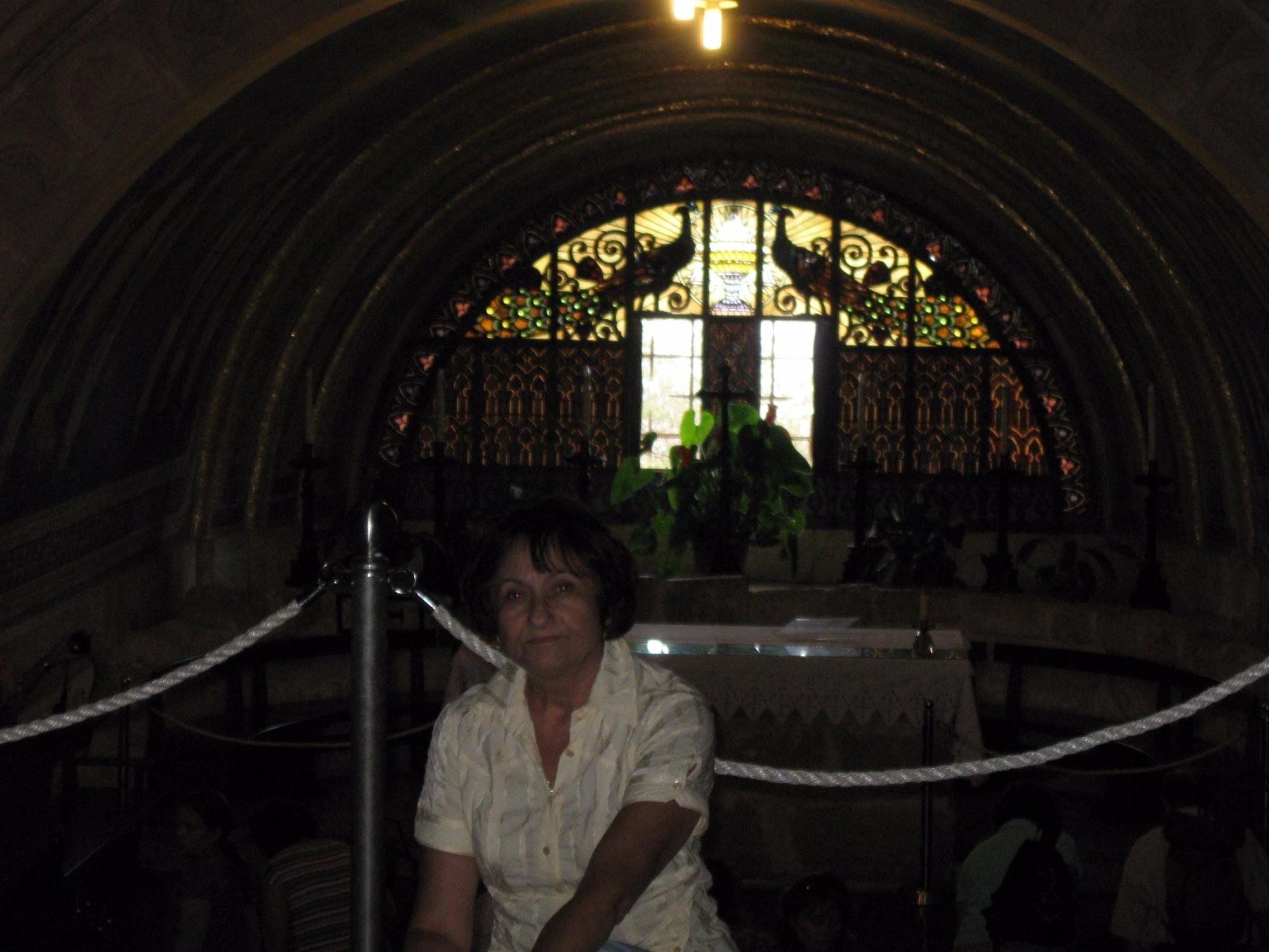 В храмі Преображення на горі Фавор