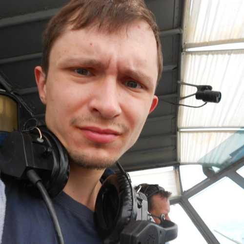 В кабине Ан-2. Готовлюсь к полету. 2015 г.