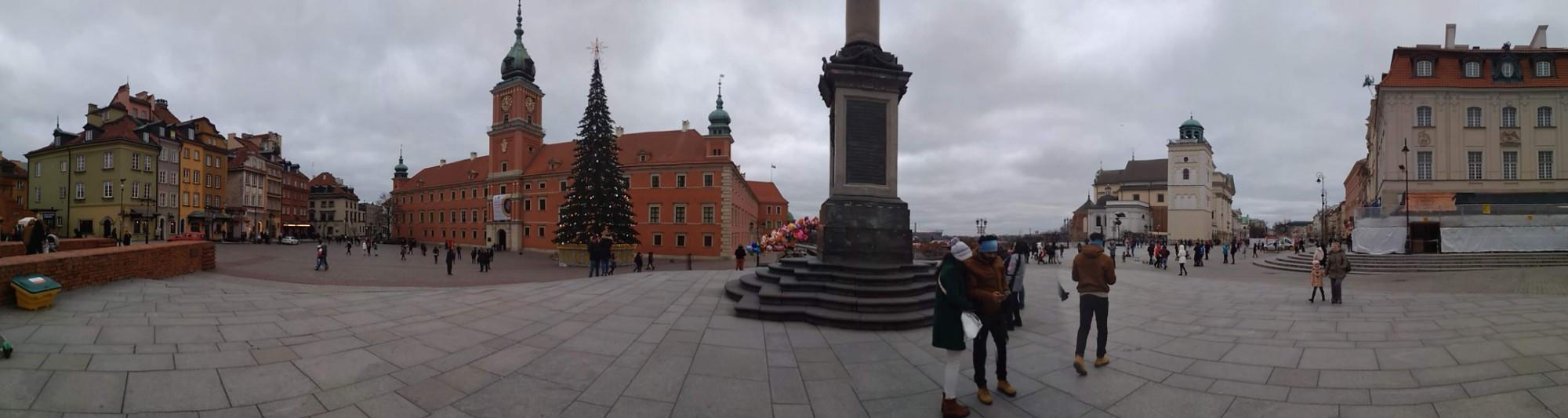 Панорама Замковой площади. Январь 2020 г.