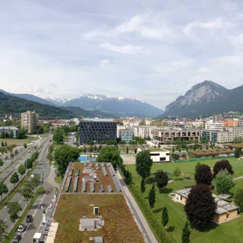 A panoramic pic from Ramada Innsbruck Tivoli hotel.